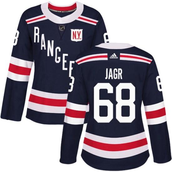 Adidas Jaromir Jagr New York Rangers Women's Authentic 2018 Winter Classic Jersey - Navy Blue