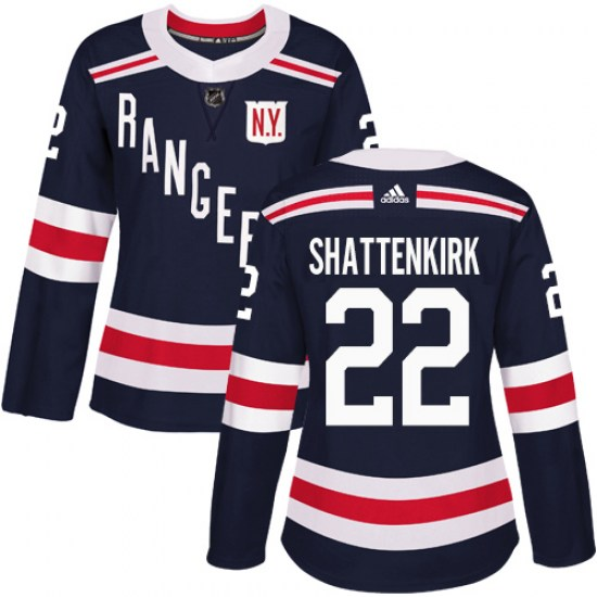 Adidas Kevin Shattenkirk New York Rangers Women's Authentic 2018 Winter Classic Jersey - Navy Blue