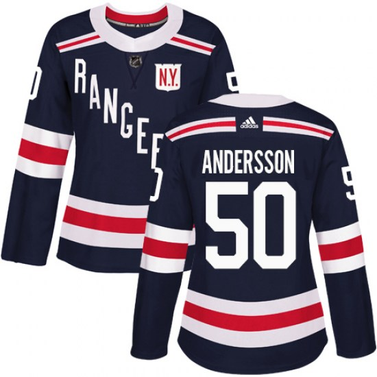 Adidas Lias Andersson New York Rangers Women's Authentic 2018 Winter Classic Jersey - Navy Blue
