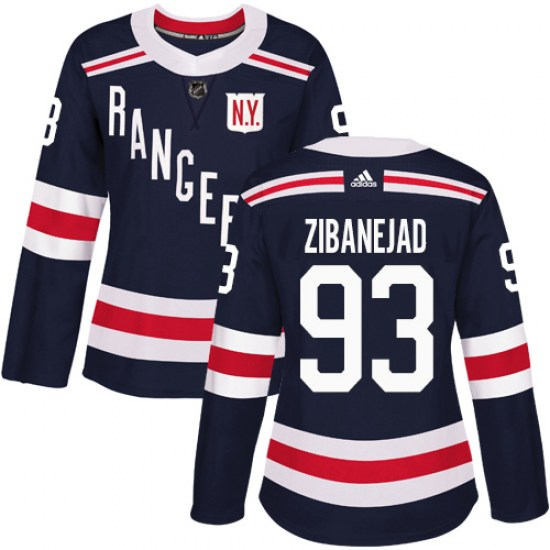 Adidas Mika Zibanejad New York Rangers Women's Authentic 2018 Winter Classic Jersey - Navy Blue