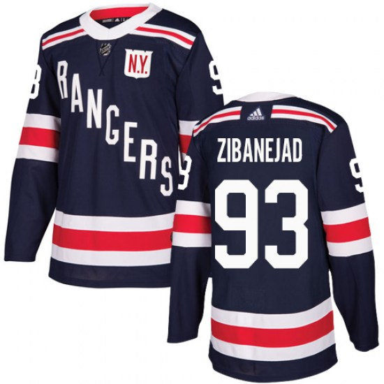Adidas Mika Zibanejad New York Rangers Youth Authentic 2018 Winter Classic Jersey - Navy Blue