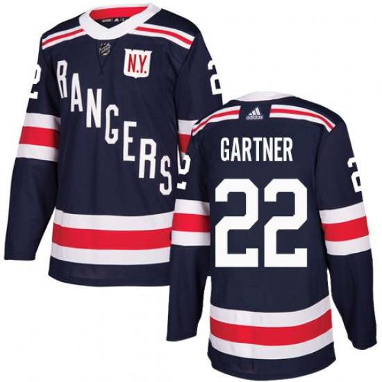 Adidas Mike Gartner New York Rangers Youth Authentic 2018 Winter Classic Jersey - Navy Blue
