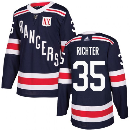 Adidas Mike Richter New York Rangers Authentic 2018 Winter Classic Jersey - Navy Blue