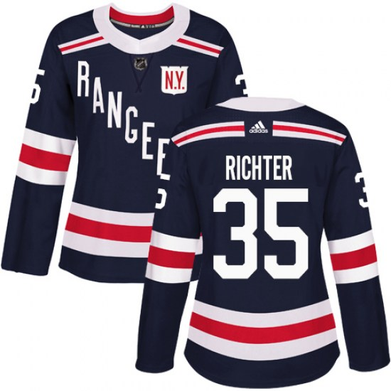 Adidas Mike Richter New York Rangers Women's Authentic 2018 Winter Classic Jersey - Navy Blue
