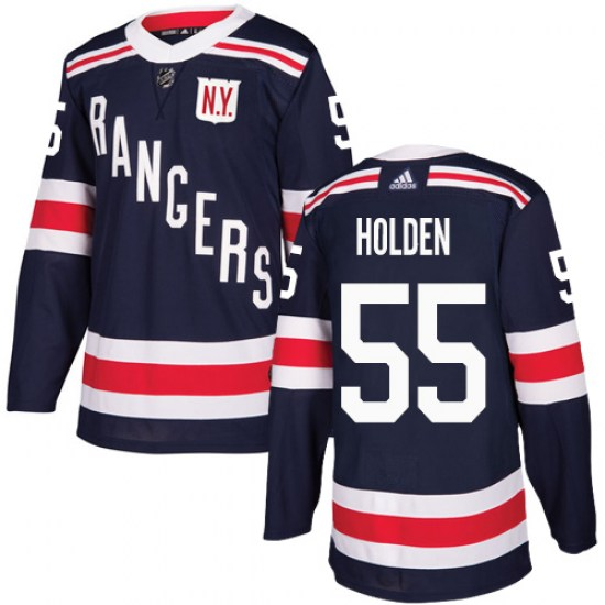 Adidas Nick Holden New York Rangers Youth Authentic 2018 Winter Classic Jersey - Navy Blue