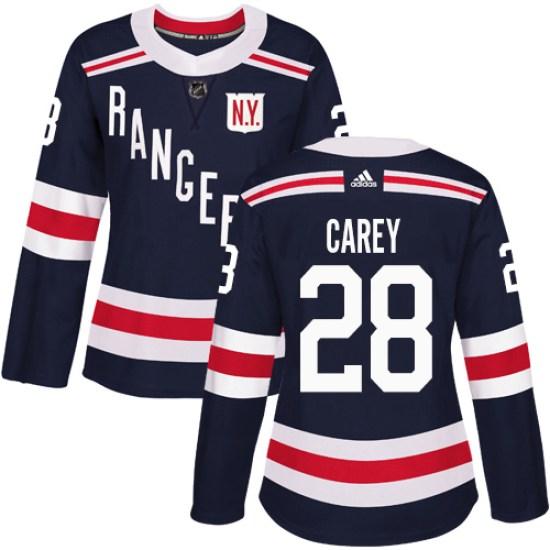 Adidas Paul Carey New York Rangers Women's Authentic 2018 Winter Classic Jersey - Navy Blue