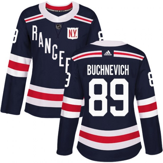 Adidas Pavel Buchnevich New York Rangers Women's Authentic 2018 Winter Classic Jersey - Navy Blue