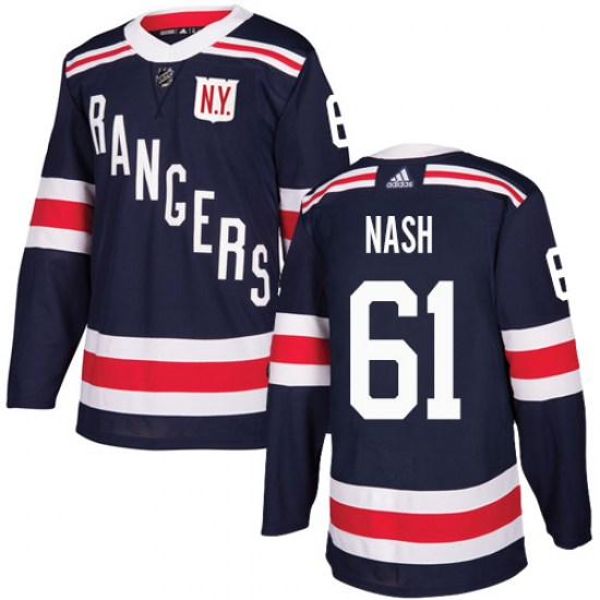 Adidas Rick Nash New York Rangers Youth Authentic 2018 Winter Classic Jersey - Navy Blue