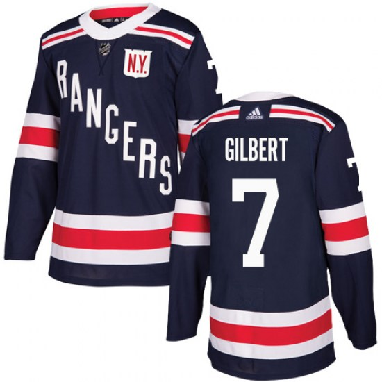 Adidas Rod Gilbert New York Rangers Authentic 2018 Winter Classic Jersey - Navy Blue
