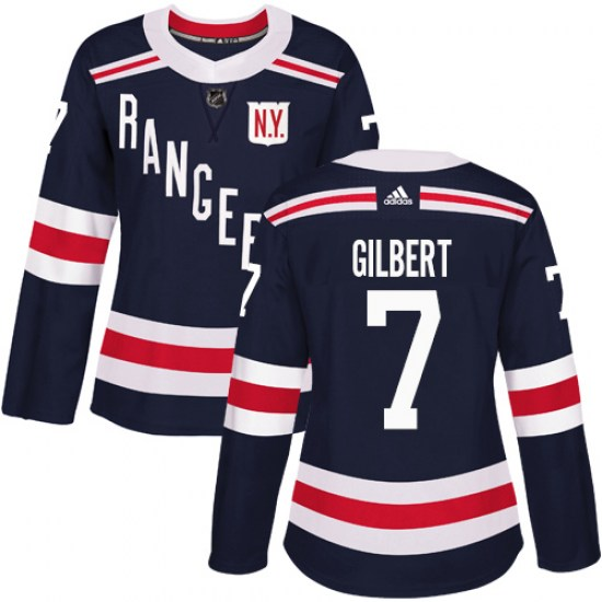 Adidas Rod Gilbert New York Rangers Women's Authentic 2018 Winter Classic Jersey - Navy Blue
