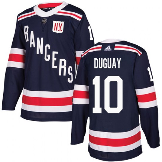 Adidas Ron Duguay New York Rangers Youth Authentic 2018 Winter Classic Jersey - Navy Blue
