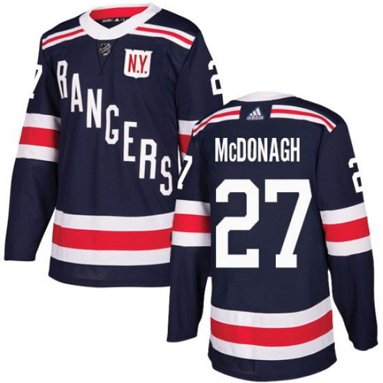 Adidas Ryan McDonagh New York Rangers Youth Authentic 2018 Winter Classic Jersey - Navy Blue
