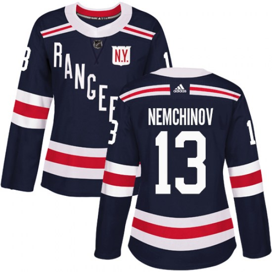 Adidas Sergei Nemchinov New York Rangers Women's Authentic 2018 Winter Classic Jersey - Navy Blue