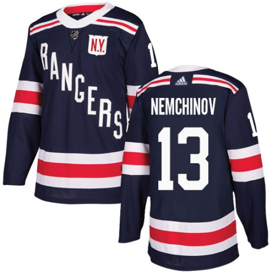 Adidas Sergei Nemchinov New York Rangers Authentic 2018 Winter Classic Jersey - Navy Blue
