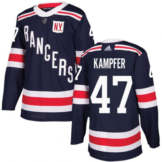 Adidas Steven Kampfer New York Rangers Youth Authentic 2018 Winter Classic Jersey - Navy Blue